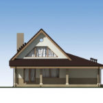 проект дома из пеноблока-газобетона SDn-522 5