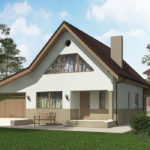 проект дома из пеноблока-газобетона SDn-522 8