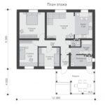 проект дома из пеноблока-газобетона SDn-528 1
