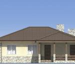 проект дома из пеноблока-газобетона SDn-528 2