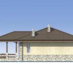 проект дома из пеноблока-газобетона SDn-528 3