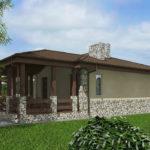 проект дома из пеноблока-газобетона SDn-528 7