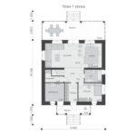 проект дома из пеноблока-газобетона SDn-531 1