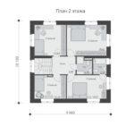 проект дома из пеноблока-газобетона SDn-531 2