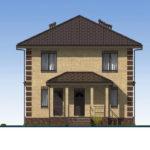 проект дома из пеноблока-газобетона SDn-531 3