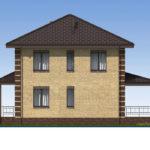 проект дома из пеноблока-газобетона SDn-531 4