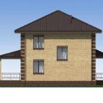 проект дома из пеноблока-газобетона SDn-531 6