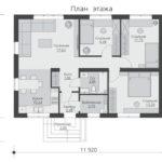 проект дома из пеноблока-газобетона SDn-556 1