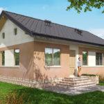 проект дома из пеноблока-газобетона SDn-556 6