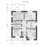 проект дома из пеноблока-газобетона SDn-566 1