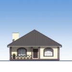 проект дома из пеноблока-газобетона SDn-566 2