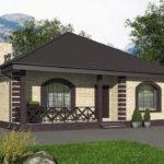 проект дома из пеноблока-газобетона SDn-566 6