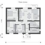 проект дома из пеноблока-газобетона SDn-584 1