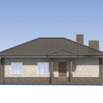 проект дома из пеноблока-газобетона SDn-584 2