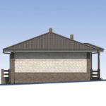 проект дома из пеноблока-газобетона SDn-584 3