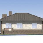 проект дома из пеноблока-газобетона SDn-584 4
