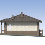 проект дома из пеноблока-газобетона SDn-584 5