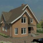 проект дома из пеноблока-газобетона SDn-915 6