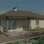 проект дома из пеноблока-газобетона SDn-934 3