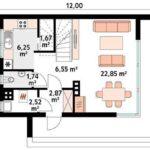 проект дома из СИП-панелей SDn-119 1