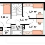 проект дома из СИП-панелей SDn-119 5
