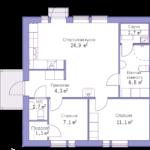 проект дома из СИП-панелей SDn-143 4