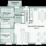 проект дома из СИП-панелей SDn-328 3