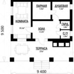 проект дома из СИП-панелей SDn-383 4