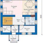 проект дома из СИП-панелей SDn-813 1