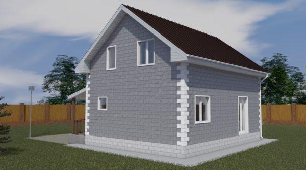 проект дома из теплоблока SDn 150 1
