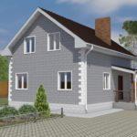 проект дома из теплоблока SDn-150 2