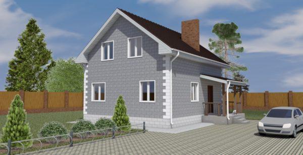 проект дома из теплоблока SDn 150 2