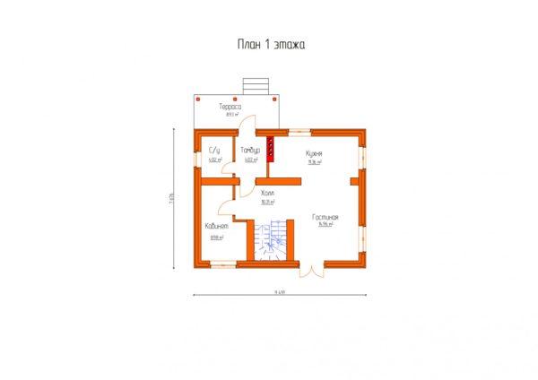 проект дома из теплоблока SDn 150 3