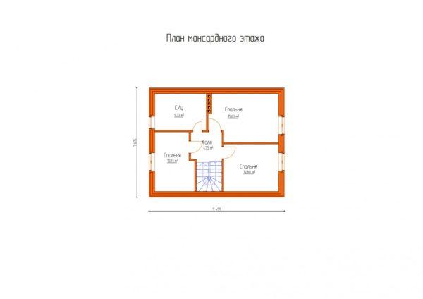 проект дома из теплоблока SDn 150 4