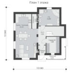 проект дома из теплоблока SDn-502 1