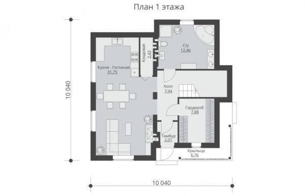 проект дома из теплоблока SDn 502 1