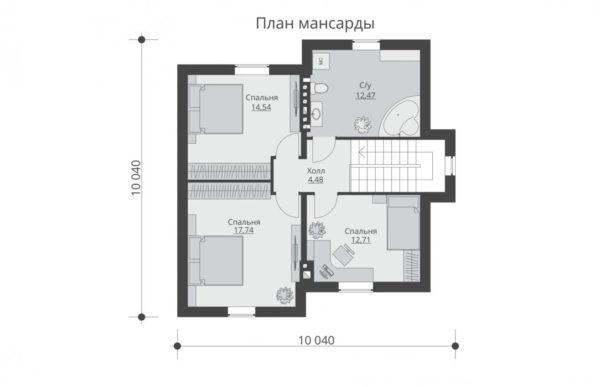 проект дома из теплоблока SDn 502 2