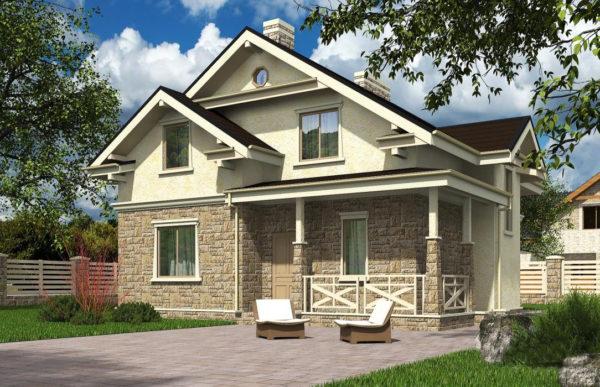 проект дома из теплоблока SDn 502 3