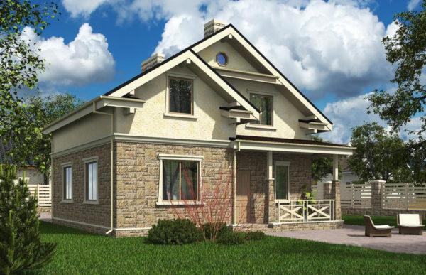 проект дома из теплоблока SDn 502 4