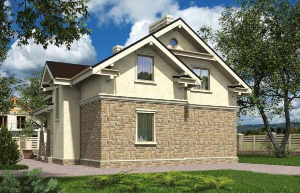 проект дома из теплоблока SDn 502 5