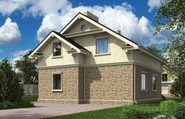 проект дома из теплоблока SDn 502 6