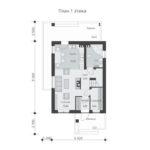 проект дома из теплоблока SDn-511 1