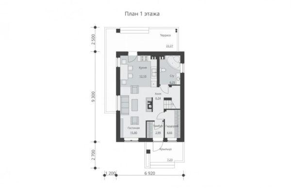проект дома из теплоблока SDn 511 1