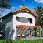 проект дома из теплоблока SDn-511 10