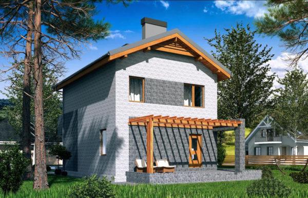 проект дома из теплоблока SDn 511 10