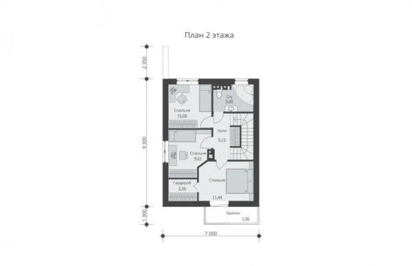 проект дома из теплоблока SDn 511 2