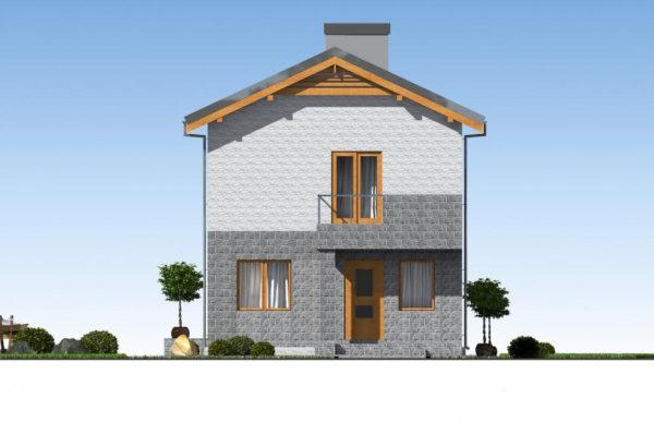 проект дома из теплоблока SDn 511 3