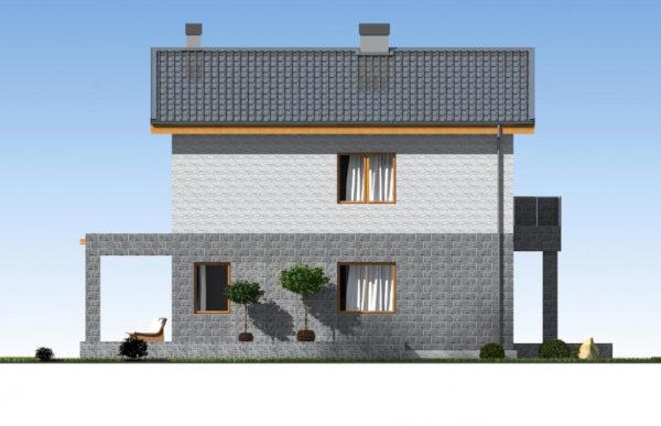 проект дома из теплоблока SDn 511 4