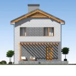 проект дома из теплоблока SDn-511 5