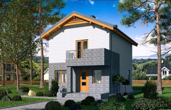 проект дома из теплоблока SDn 511 7